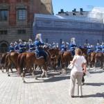 VISITE DE STOCKHOLM RELEVE DE LA GARDE