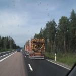 en montant vers la norvége -commerce du bois
